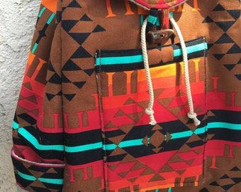 Beautiful Handmade Backpack / Rusack / Travel bag / School bag / Book bag / Hipster Backpack Drawstring/traveler bag/Back to school/work