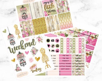 Happy Planner Rustic and Rose Weekly Kit Planner Stickers