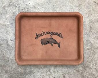 Leather tray / svuota tasche in pelle