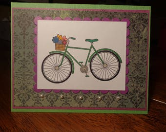 Charming bicycle card