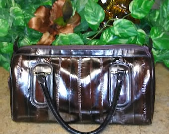 Vintage  Genuine  Eel Skin Brown Purse Korea