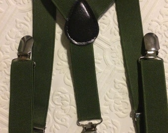 Baby suspenders, army green baby suspenders, toddler suspenders, green suspenders, green suspenders