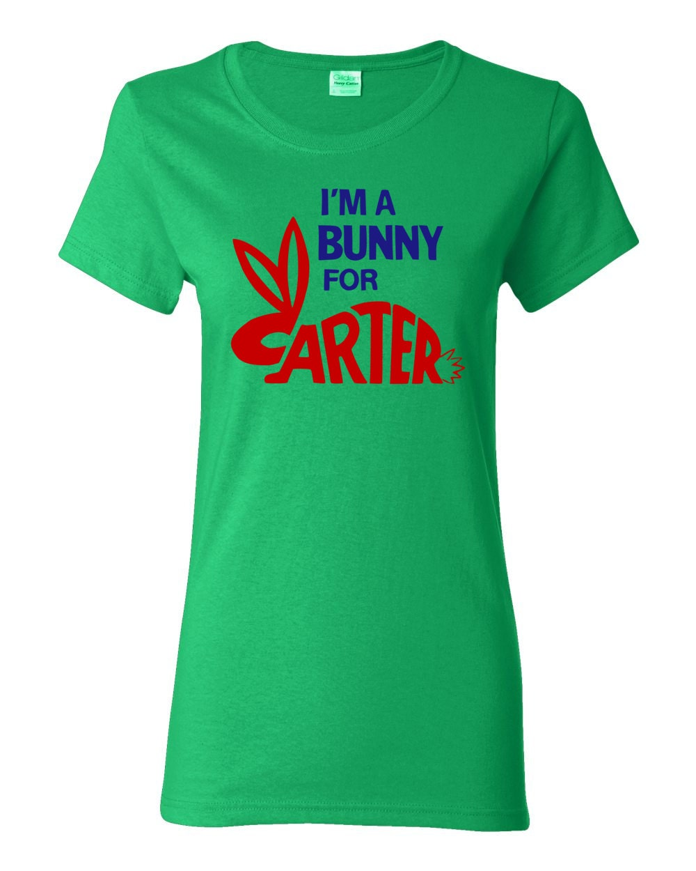 Jimmy Carter - I'm A Bunny For Carter - Presidential Campaign Button Womens T-shirt