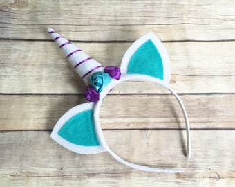 Unicorn horn headband - unicorn gifts for girls - unicorn headband - felt unicorn headband - unicorn lover gift - turquoise and purple