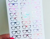 Galaxy Foil Glasses Stickers - Planner Stickers