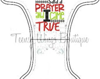 Custom embroidered two layer fleece diaper cover. My Daddy said a prayer and I came truecloth diaper cover,cloth diaper, miracle baby diaper