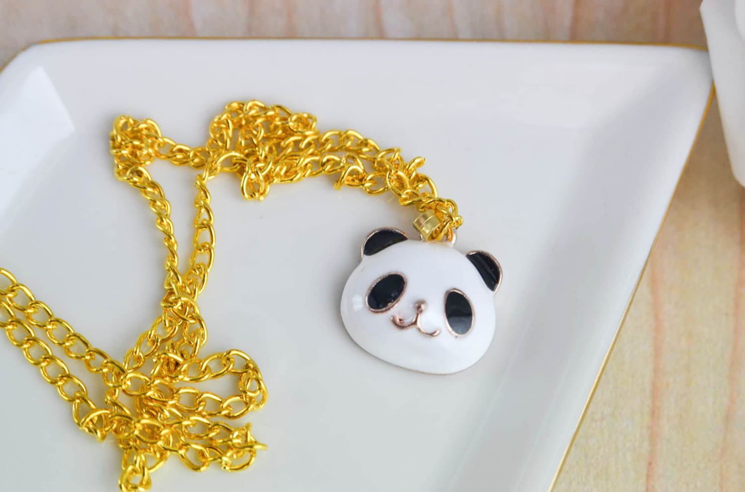 panda necklace bijoux animaux collier charms maill. Black Bedroom Furniture Sets. Home Design Ideas