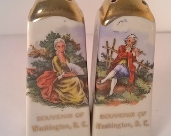 Ceramic Washington D.C. Souvenir Salt and Pepper Shaker Set (#9)