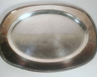 Large Keton Rogers 1709 Silver Plated Serving Tray
