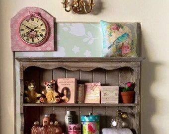 A Unique Framed Shadow Box Miniatures Collectibles For A Baby Girl Room