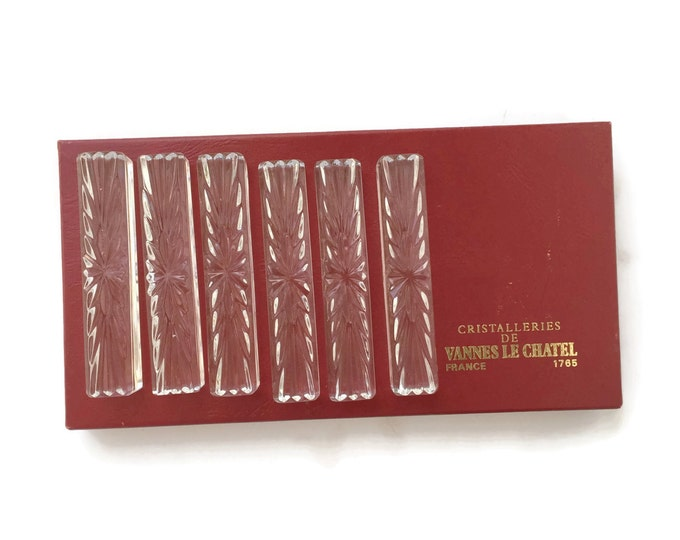 Vannes Le Chatel French Crystal Knife Rests