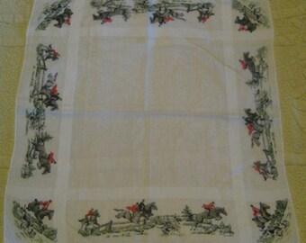 Vintage Cotton Equestrian Men's Handkerchief