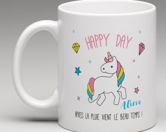 Personalised Unicorn gift mug