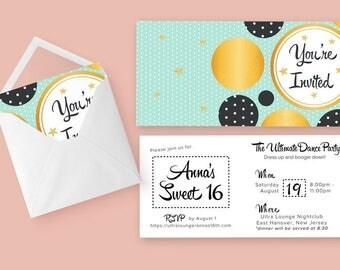 Printable Invitations - Teen Birthday Invite - Teen Birthday Ideas - Teen Birthday Invitation - Invitations Online - Instant Downloads