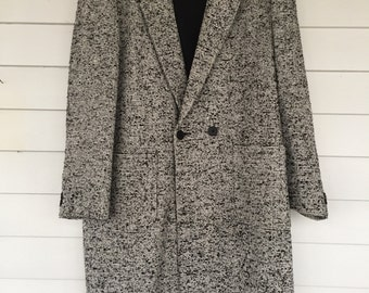 Classic Le Tigre Wool Double Breasted Over Coat - 44 XL