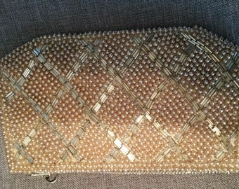Beaded Coin Purse. Made in Japan