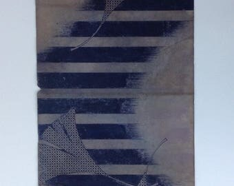 Vintage Japanese hand-painted kimono design on paper.Ginko design,circa 1930s-only one available.(755mmX332mm)
