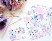 Prance -- Horizontal Weekly Kit-- Matte Planner Stickers