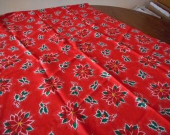 Vintage Christmas Table Cloth