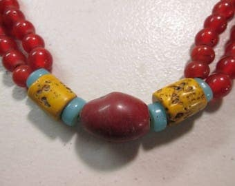 Authentic African Trade Bead Necklace 1800'Ss