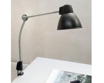 Beautiful German industrial table lamp, mid-900   Old Factory Lamp, Table Industrial Lamp