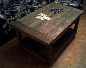 "Farmhouse table,pallet table,coffee tables ,wood coffee table ,rustic coffee table ,pallet furniture,dark wood coffee table ""Black earth""."
