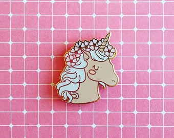 Unicorn Enamel Pin Unicorn Pin Cute Unicorn Lapel Pin