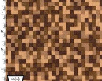 Bitmap Fabric - Brown - By Michael Miller Fabrics (Priced by the half yard)