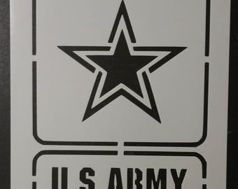 United States Army Square Custom Stencil FAST FREE SHIPPING