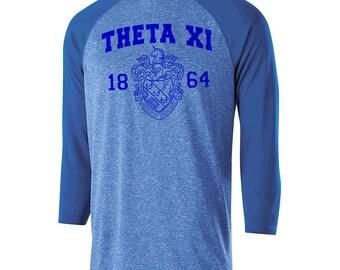 Theta Xi Typhoon Raglan (royal blue text)