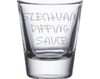 Rick and Morty Szechuan Dipping Sauce Shot Glass