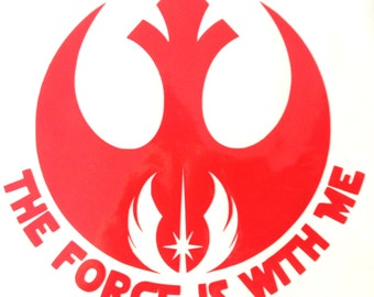 The Force is With Me - Jedi Sticker