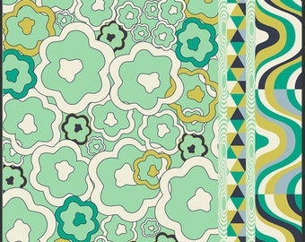 Art Gallery Fabric - Carnaby Street Psychedelia Peridot