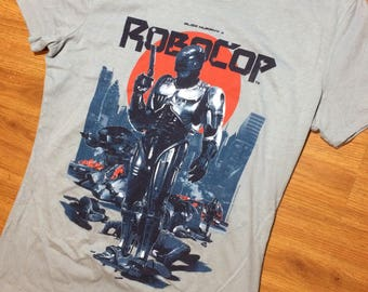 Robocop t shirt mens medium 80s movie films robot