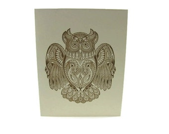Owl Blank Cards Set of Five