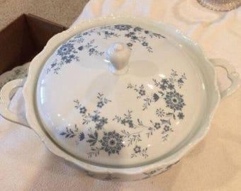 Vintage Christina Porcelain Bavarian Blue by Seltmann Weiden Soup Tureen. ID# 17-55