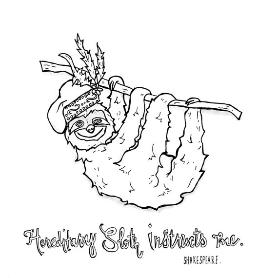 shakespeare quotes coloring pages - sloth drawing shakespeare quote drawing sloth shakespeare