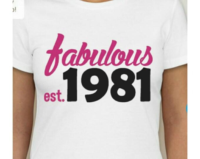 Fabulous birthday shirt