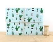Christmas Cactus Gift Wrap, gift wrap paper, designer wrapping paper, mini cactus, flowering cactus, Christmas Gift Wrapping Paper,