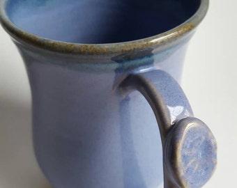 Large Violet Mug, Stoneware, Ceramic Mug, Tableware, Houseware, Purple Coffee Mug