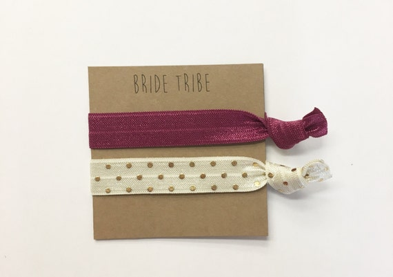 Bridesaid hair tie favors// bridesmaid hair ties, hair tie favors, hair tie card, party favor, bachelorette party, wedding, bridesmaid bag