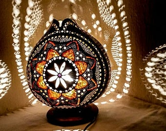 100% HANDMADE Gourd Lamps Ottoman Turkish Table Lamp Stehlampe Valentineu0027s  Day, Wedding Day,