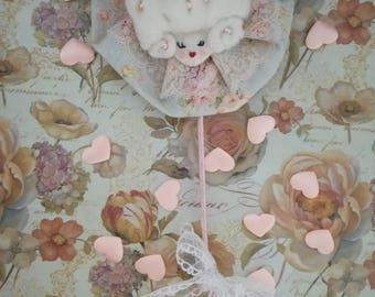Spring Rose Powder Puff Wand