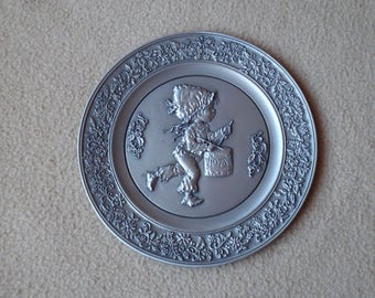 Hallmark Little Gallery Pewter Plate 1978