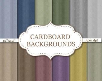 "CARDBOARD BACKGROUND Cardboard Digital Paper Blue Green Brown Yellow Cardboard Texture Embossed digital paper Scrapbook paper 12""x12"" #P027"