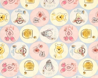 Disney Winnie the Pooh Everyday Friends Tigger Piglet Eeyore Names Cotton Fabric by Springs Creative