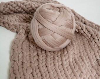 Chunky Yarn, Wool Yarn, 23 microns, Arm knitting, Merino Wool, Giant Yarn, Thick Yarn, Extreme Knitting, Super Bulky Wool, Merino Wow, Linen