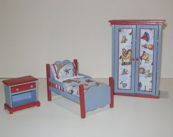 Artisan Dollhouse Miniature Children's Bedroom Set