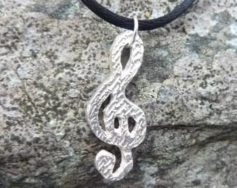 Silver Clef Pendant