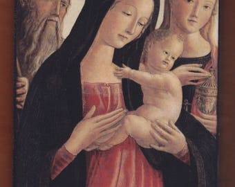 Neroccio De' Landi (1447-1500) Madonna and Child Saint Jerome and Mary Magdalene.FREE SHIPPING.